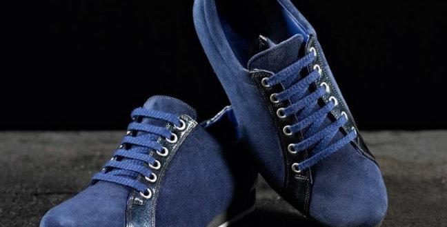 Sneakers in camoscio e pitone realizzate a mano su misura in Italia