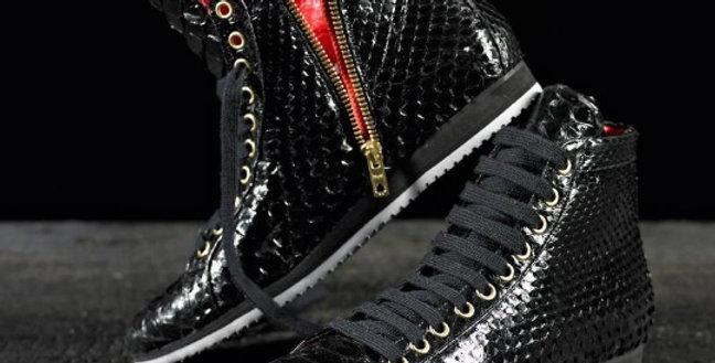Sneakers in pitone realizzate a mano su misura in Italia