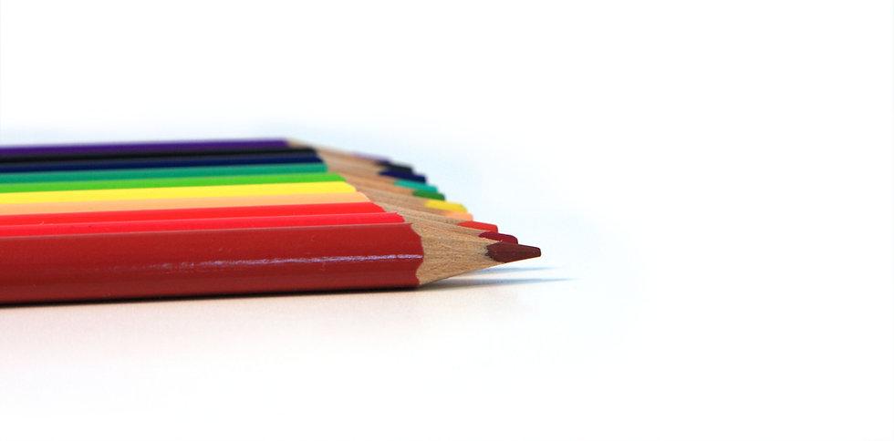 Linea di matite colorate