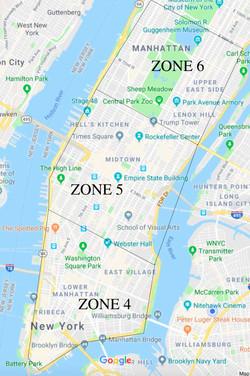 Manhattan Delivery Zones