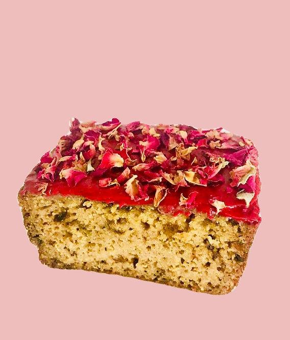 raspberry rose cardamom loaf