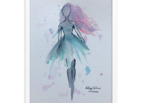 Whimsical Woman Framed Poster Print
