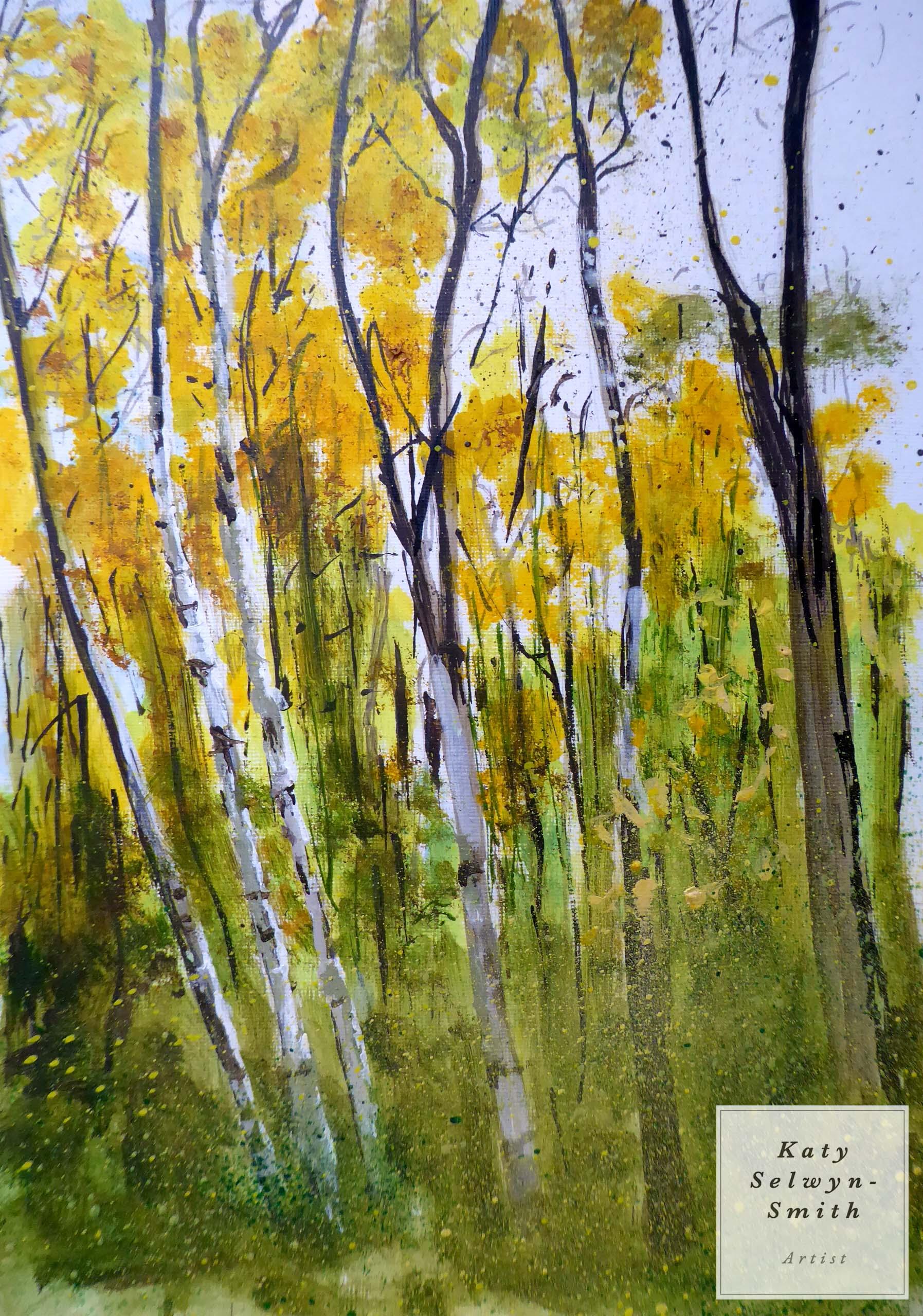 Birches Turning Horseshoe Clump.
