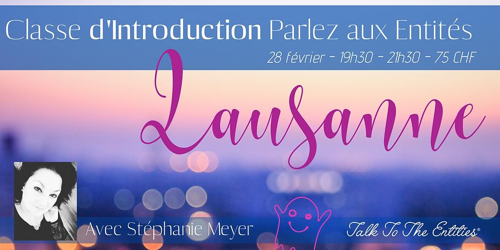 Introduction Parlez aux Entités à Lausanne
