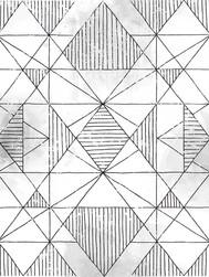 Geometric Sketch White