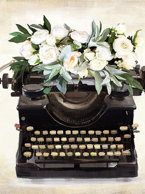 Floral Typewriter