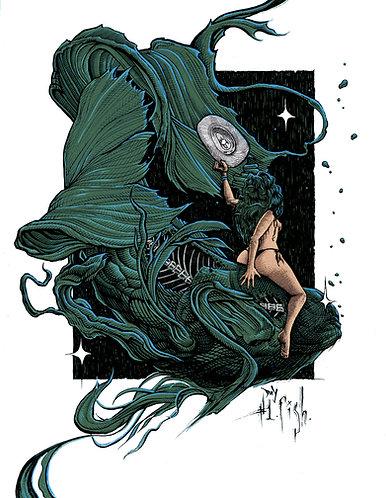 "Fish, 8x10"" or 11x14"" High Quality Giclee art print by Alex Dakos"