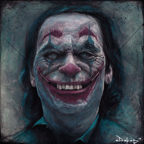 "The Joker, 10x10"" or 12x12"" High Quality Giclee art print by Alex Dakos"