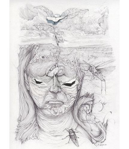 "Eternal Layers, 8x10"" or 11x14"" High Quality Giclee art print by Alex Dakos"