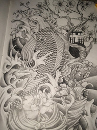 Koi tattoo design