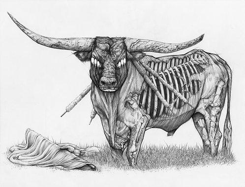 "Revenge of Taurus, 8x10"" or 11x14"" High Quality Giclee art print by Alex Dakos"