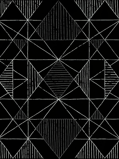 Geometric Sketch Black