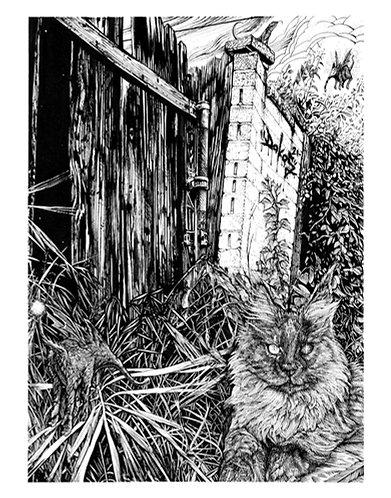 "Alley Cat, 8x10"" or 11x14"" High Quality Giclee art print by Alex Dakos"
