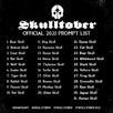 Skulltober prompt list