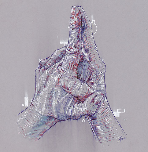 Hoping Hands, Original art by Alex Dakos