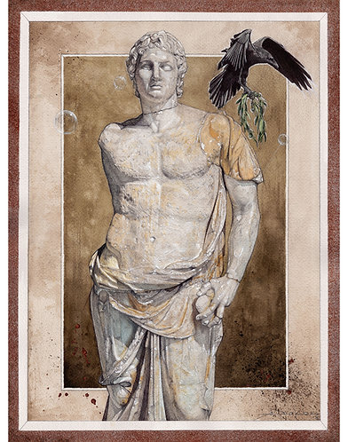 "Alexander the Great, 8x10"" or 11x14"" High Quality Giclee art print"