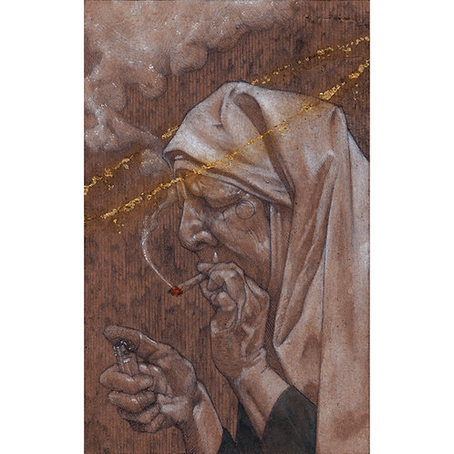 "Holy Roller, 8x10"" High Quality Giclee art print by Alex Dakos"