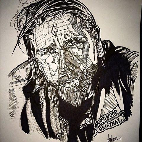 Jax Teller, Original Drawing by Alex Dakos