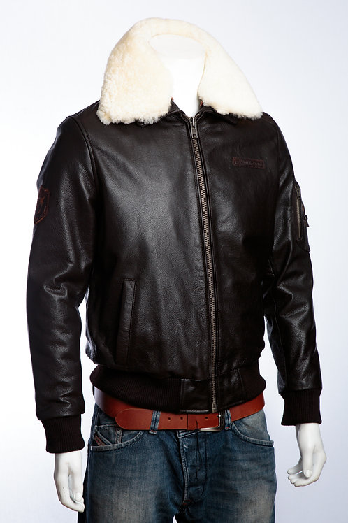 A2 Pilot Mens Brown Classic Leather Jacket