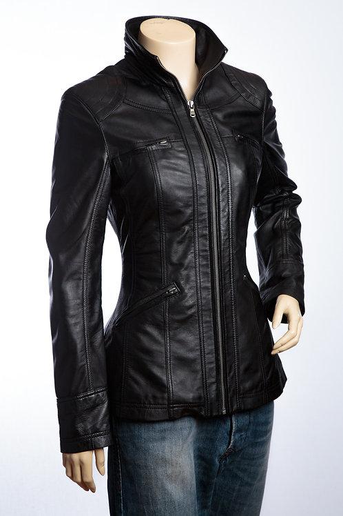 Lexie Ladies Black Leather Jacket