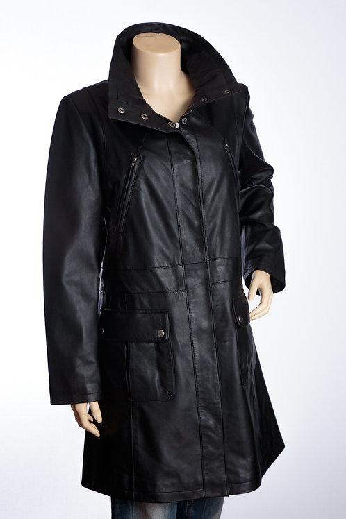 Ladies Black Parker Leather Jacket