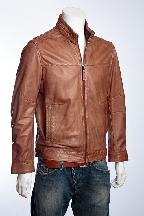 Hugo Mens Classic Tan Leather Jacket