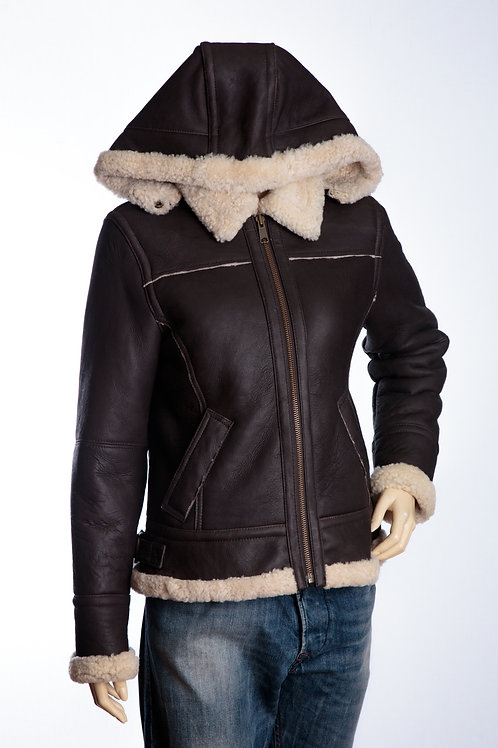 Kelly Ladies Leather Flying Jacket