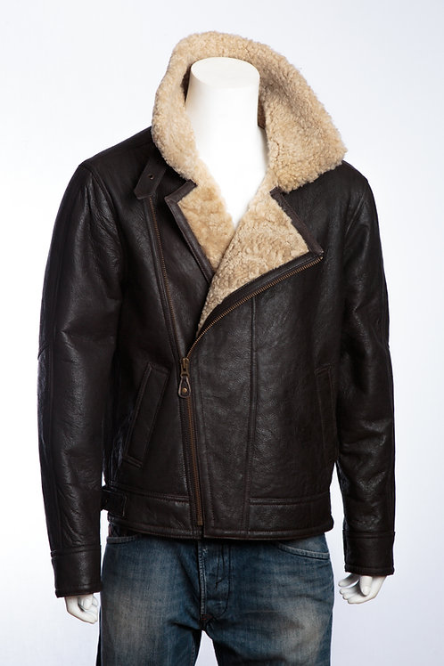 Rocky II Brown Nappa Mens Leather Flying Jacket