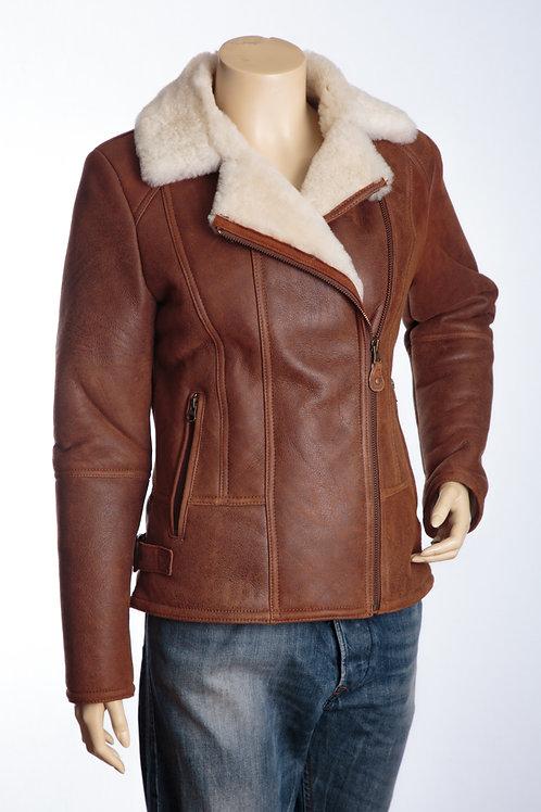 Killington Tan and Cream Ladies Leather Flying Jacket