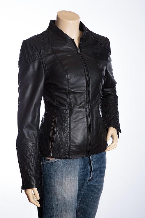 Lara Ladies Black Leather Jacket