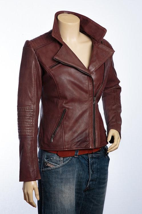 Posh Antique Copper Brown Ladies Leather Jacket