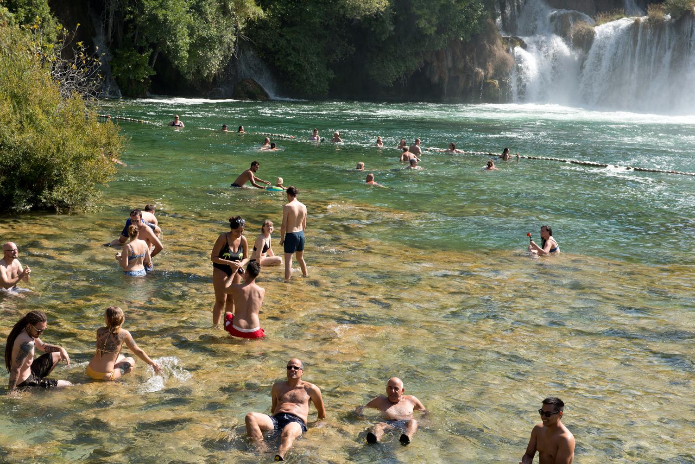 Heiratsantrag, Krka Wasserfälle