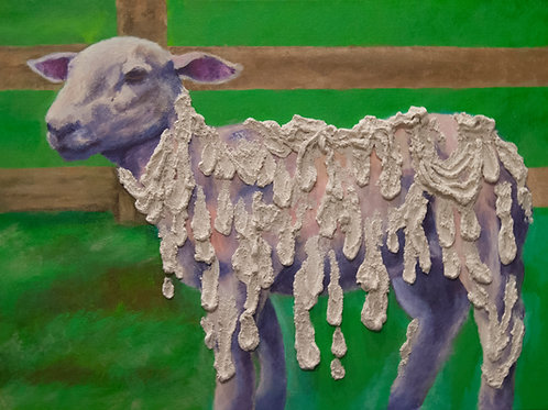 Melting Sheep Painting