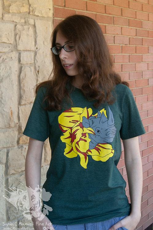 Blooming Rhino T-shirt