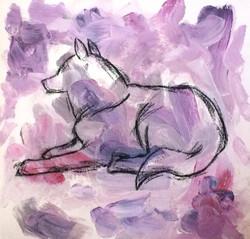 Injured Purple Wolf