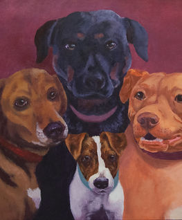 Custom painting of dogs, dog portrait
