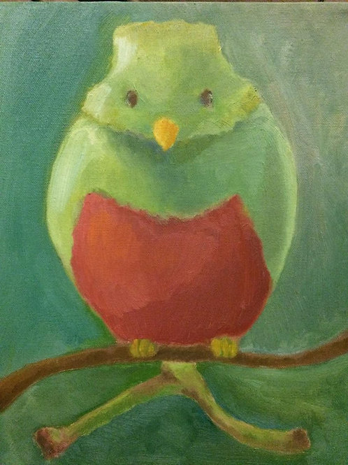 Grape Bird Painting