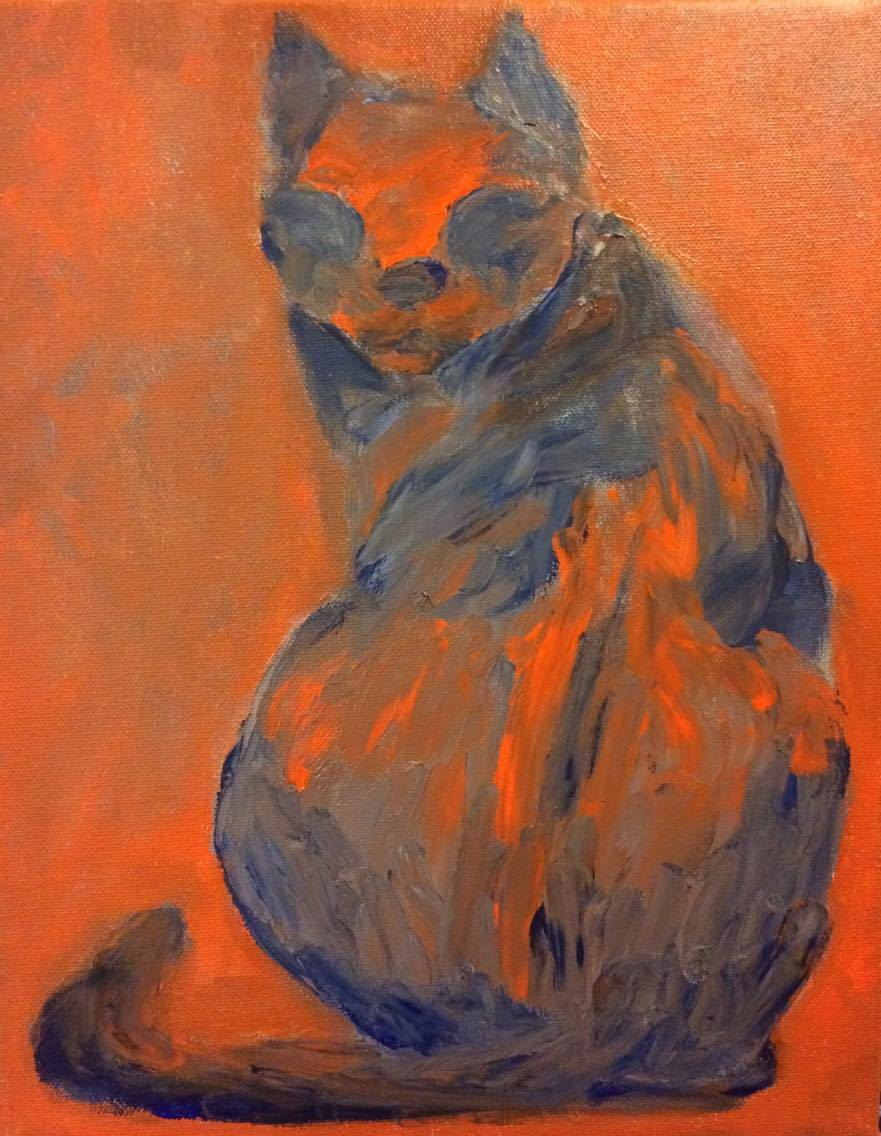 Finger Paint Cat