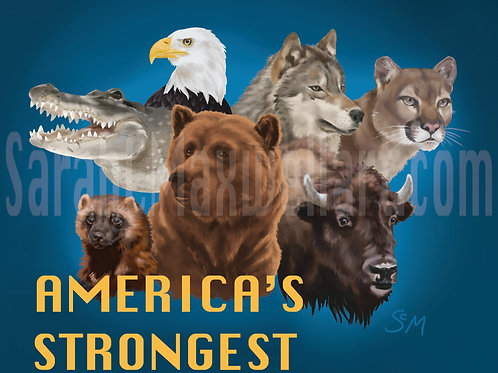 America's Strongest - Medium Print