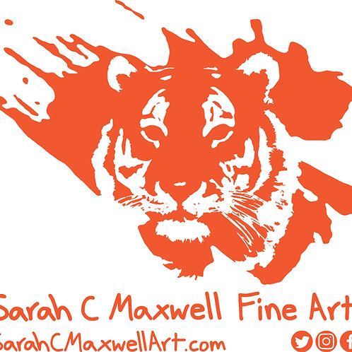 Tiger Logo Window Sticker