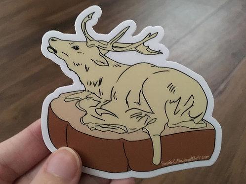 Butter Reindeer Vinyl Sticker