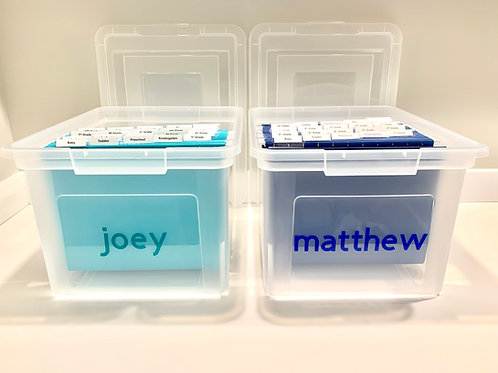 Personalized Keepsake Bin