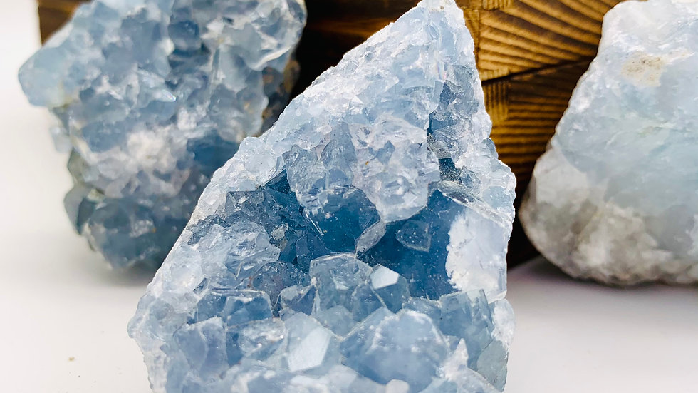 CELESTITE CRYSTAL CLUSTER SMALL