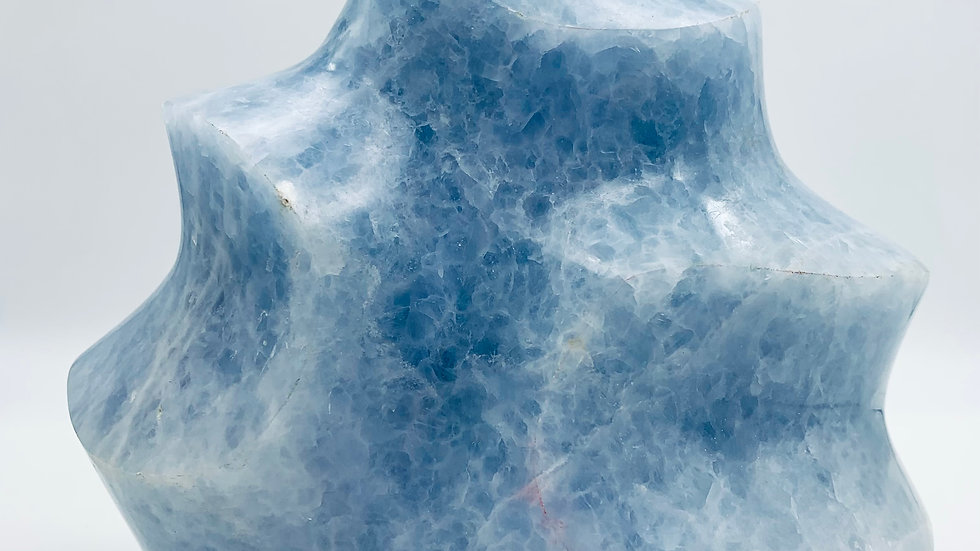 BLUE CALCITE CRYSTAL FLAME