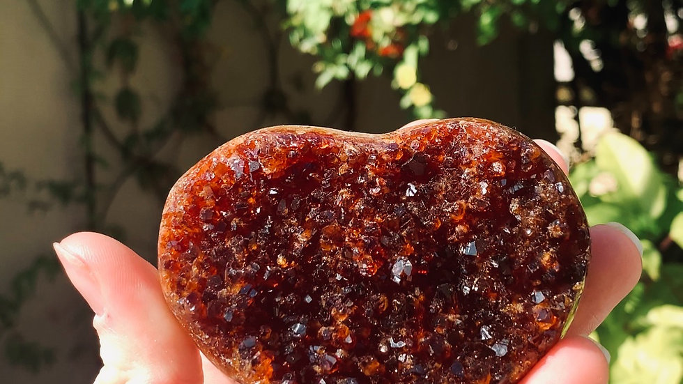 CITRINE CLUSTER CRYSTAL HEART