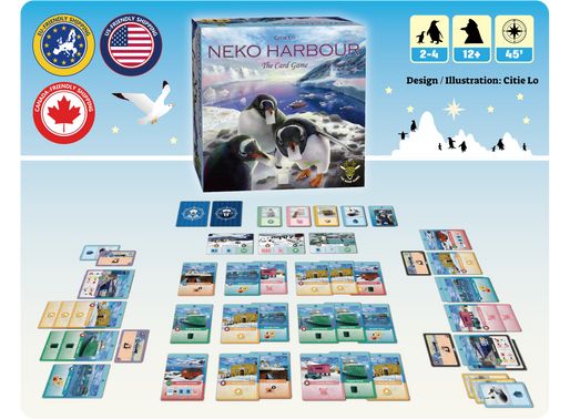 Neko Harbour: The Card Game soon on Kickstarter!