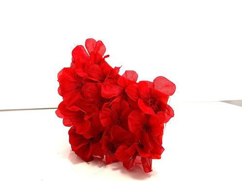 Red flower mask
