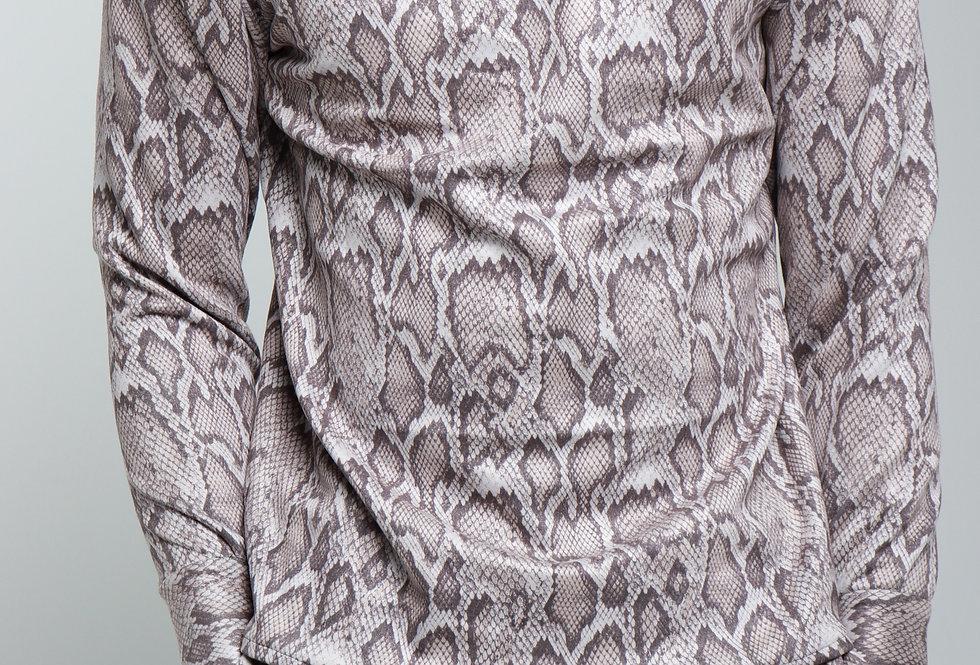 Long sleeve suede top