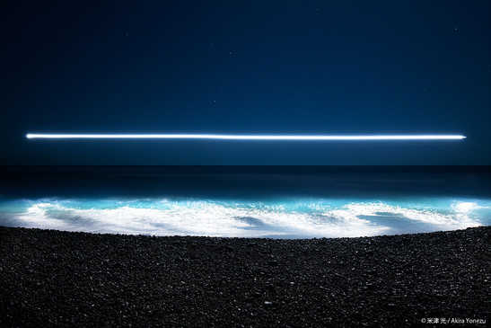 大里海岸の白波
