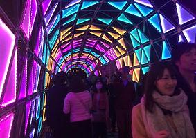 Synergytecトライアングルパネル「オリガミ」@東京ドームシティ